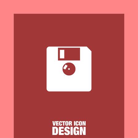 floppy drive: diskette vector icon Illustration