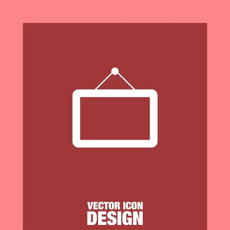 the frame: picture frame vector icon Illustration