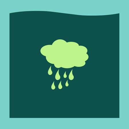 rain weather: cloud with rain weather vector icon Vectores