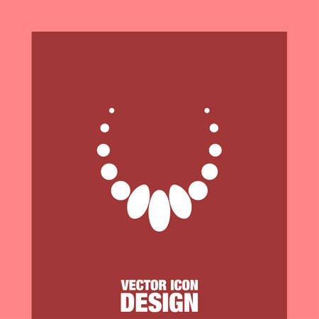 necklace vector icon Illustration