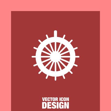 Steuerruder: rudder vector icon Illustration
