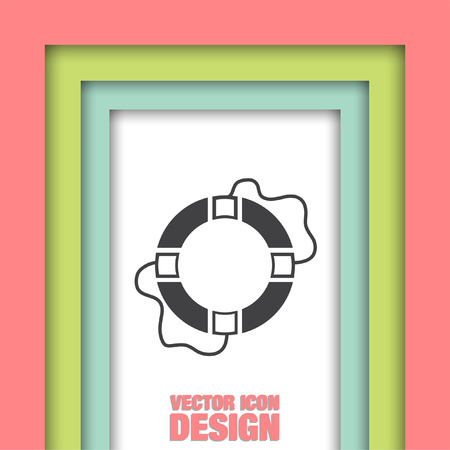 survive: lifebuoy vector icon