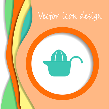 squeezer: citrus squeezer vector icon