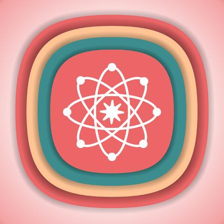 neutron: Atom model vector icon Illustration