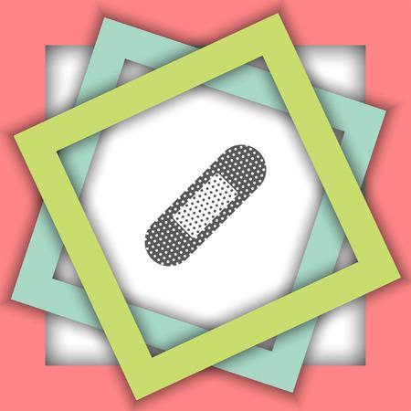plaster: aid plaster vector icon