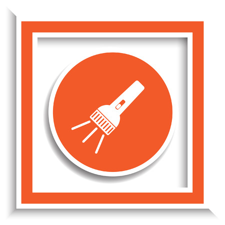 flashlight: flashlight vector icon Illustration