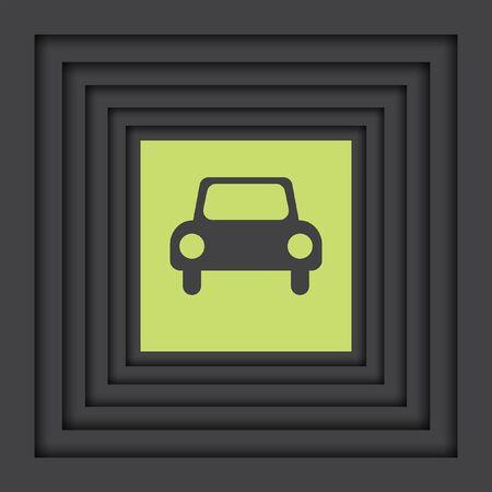 car: automobile car vector icon