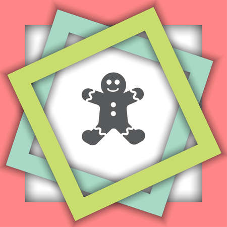 gingerbread: gingerbread vector icon Illustration