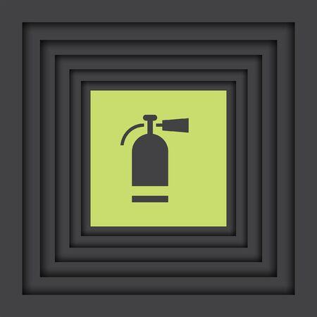 extinguish: fire extinguisher vector icon