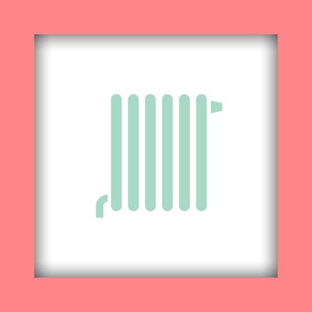 radiator: vector icon radiador Vectores