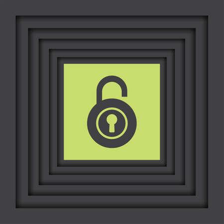 unlocking: lock open vector icon Illustration