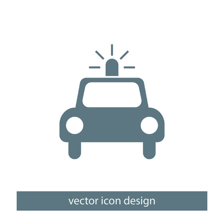 arrested: police car vector icon