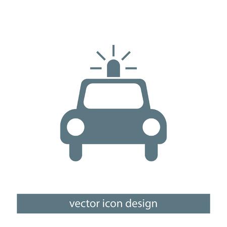 police arrest: police car vector icon