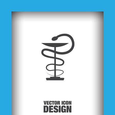 snake symbol: pharmacy snake symbol vector icon