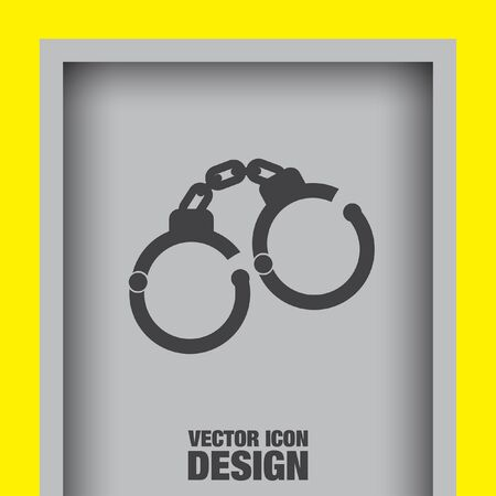 handcuffs: handcuffs vector icon Illustration