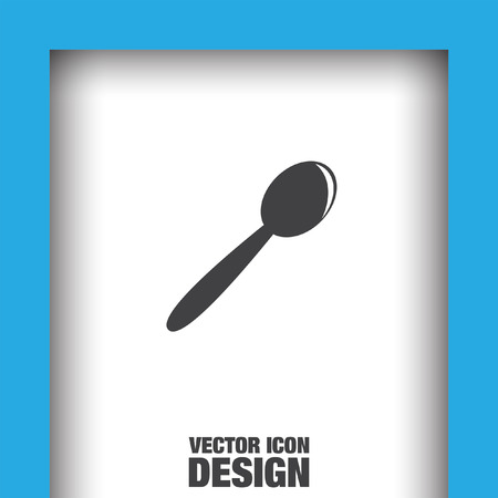 tablespoon: spoon vector icon Illustration