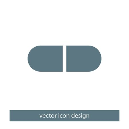vitamin pills: pill vector icon