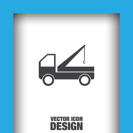 truck crane icon Vector Illustration