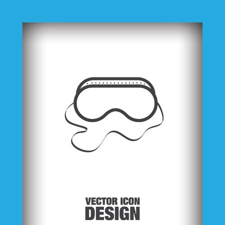 arbeidsveiligheid bril vector icon Vector Illustratie