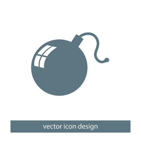 aggression: bomb vector icon Illustration