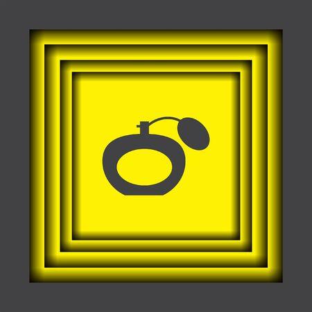 scent: perfume vector icon Illustration