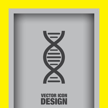 dna chain: dna chain vector icon Illustration
