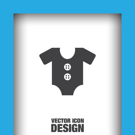onesie: baby onesie vector icon Illustration