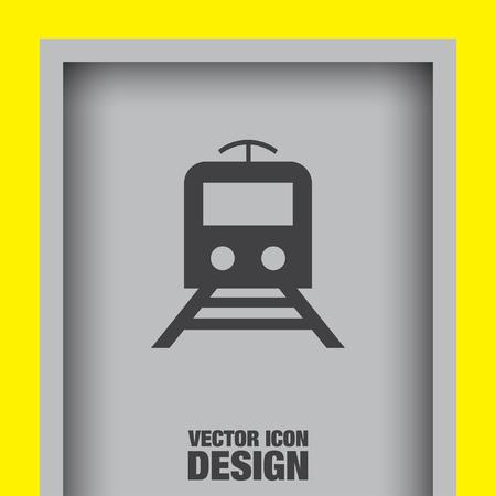 the subway: subway metro vector icon Illustration