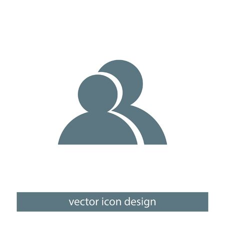 two people: two people vector icon Illustration