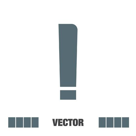 exclamation icon: exclamation mark vector icon