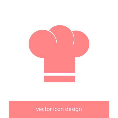 fine cuisine: chef hat vector icon Illustration