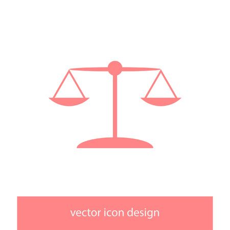 scales vector icon Illustration