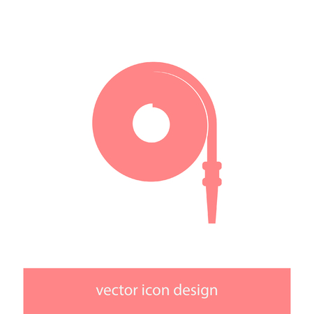 water hoses: fire hose vector icon Illustration