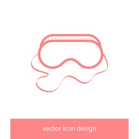 safety: safety work glasses vector icon