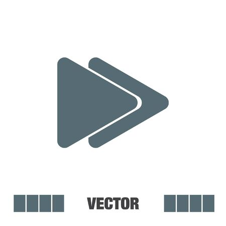 fast computer: fast forward button vector icon