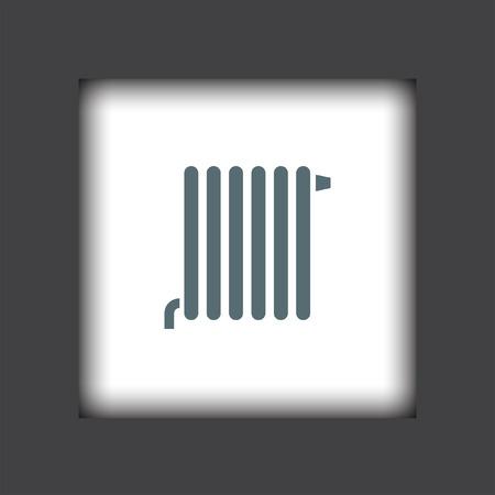 radiador: vector icon radiador Vectores