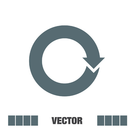 circular arrow: circular arrow sign vector icon
