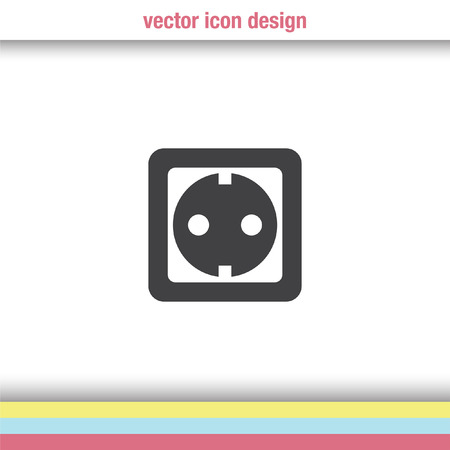 wall socket: power socket vector icon