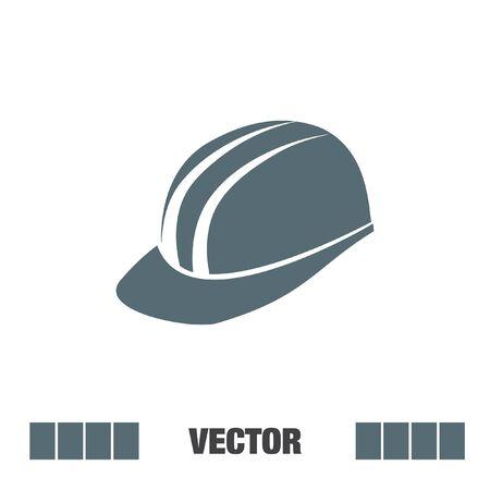 protective: protective helmet vector icon Illustration