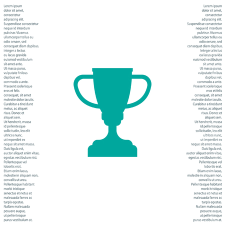 goblet: champions trophy cup vector icon