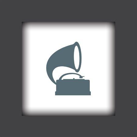 gramophone: gramophone vector icon