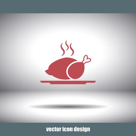 vecteur de poulet icône