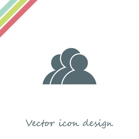 three people: three people vector icon