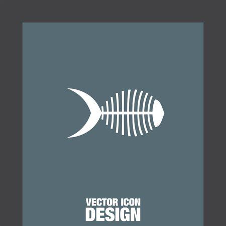 dead sea: fish bone vector icon Illustration