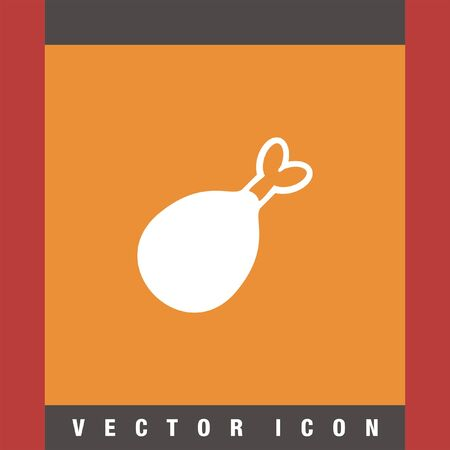 leg: chicken leg vector icon Illustration