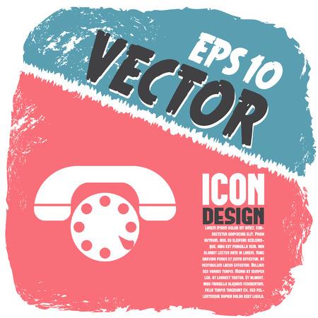 phone icon: phone vector icon Illustration
