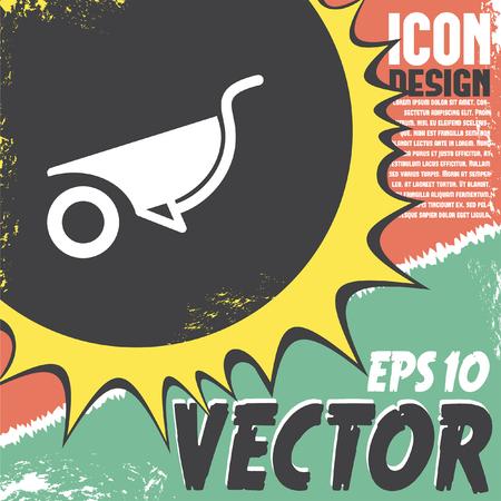 wheelbarrow: wheelbarrow vector icon