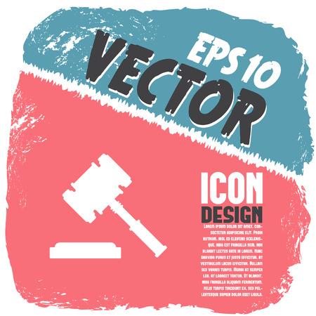 judgments: judge hammer vector icon Illustration
