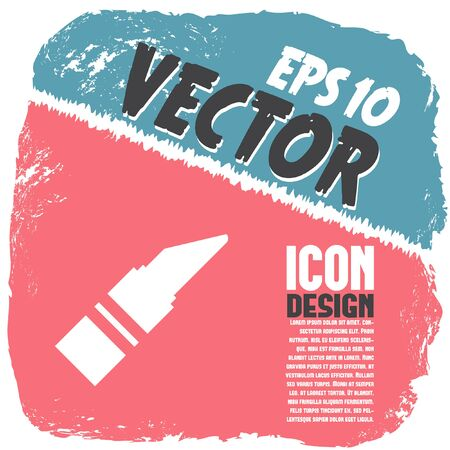 gloss: lipstick vector icon Illustration