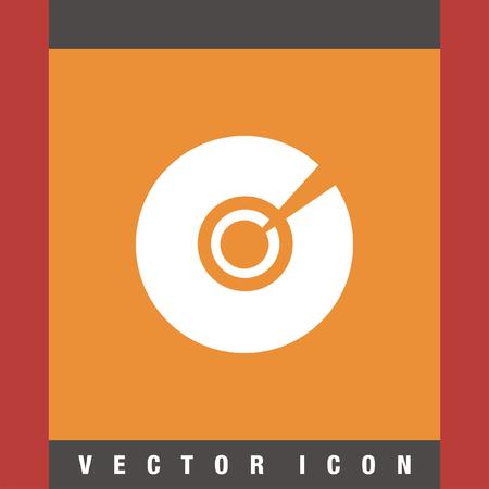 cd rom: cd dvd vector icon